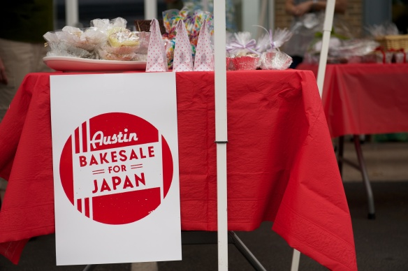 Austin Bakes for Japan, the first Austin Bakes fundraiser