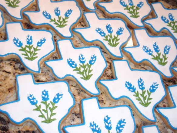 These bluebonnet cookies by Capital Cake Chick will be available at the South Austin Bakes for West sale site. Capital Cake Chick is one of over 40 business sponsors donating baked goods to Austin Bakes for West.