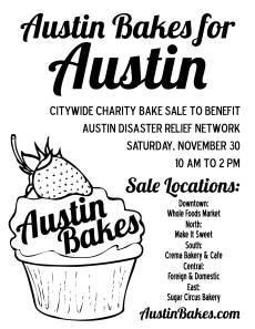 Austin Bakes Flyer - B&W
