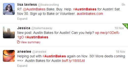 Tweets for #AustinBakes!